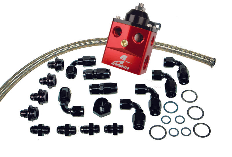 Aeromotive A4 Dual Carburetor Regulator (P/N 13203) Kit (Incl. Reg/Hose/Hose Ends/Fittings)