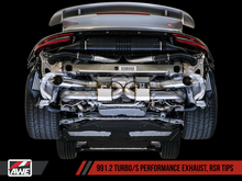 Load image into Gallery viewer, AWE Tuning Porsche 991.1 / 991.2 Turbo Performance Exhaust and High-Flow Cats - Silver RSR Tips