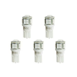 Autometer LED Light Bulb Replacement - White 5 Pack