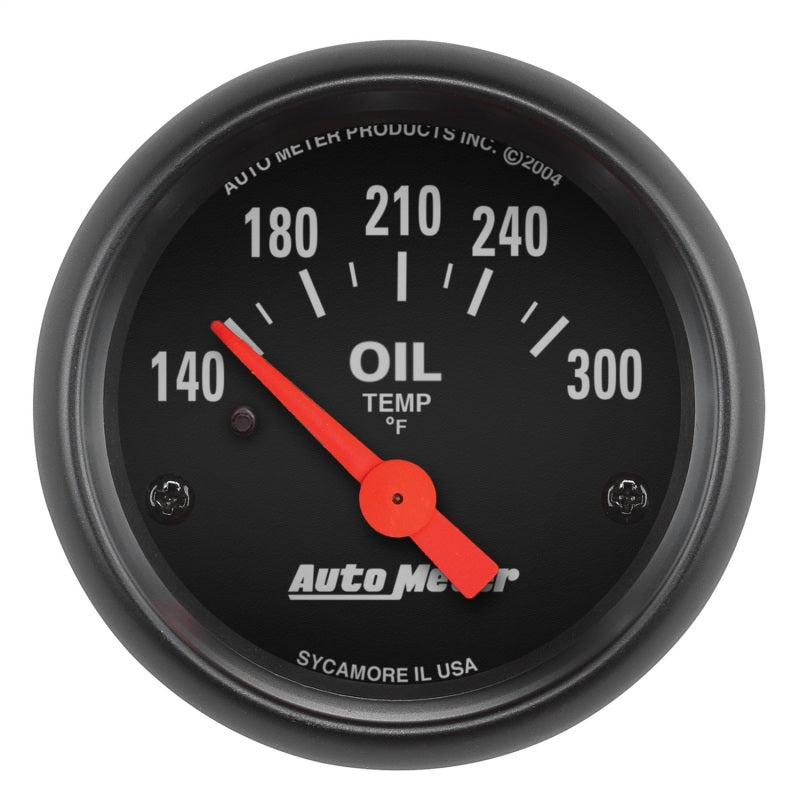 Autometer Z-Series 52mm 140-300 Degrees F Electric Oil Temp Gauge