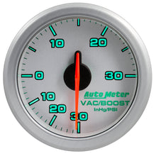 Load image into Gallery viewer, Autometer Airdrive 2-1/6in Boost/Vac Gauge 30in HG/30 PSI - Silver