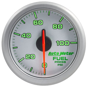 Autometer Airdrive 2-1/6in Fuel Pressure Gauge 0-100 PSI - Silver