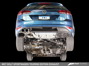 AWE Tuning VW MK7 Golf SportWagen Touring Edition Exhaust w/Chrome Silver Tips (90mm)