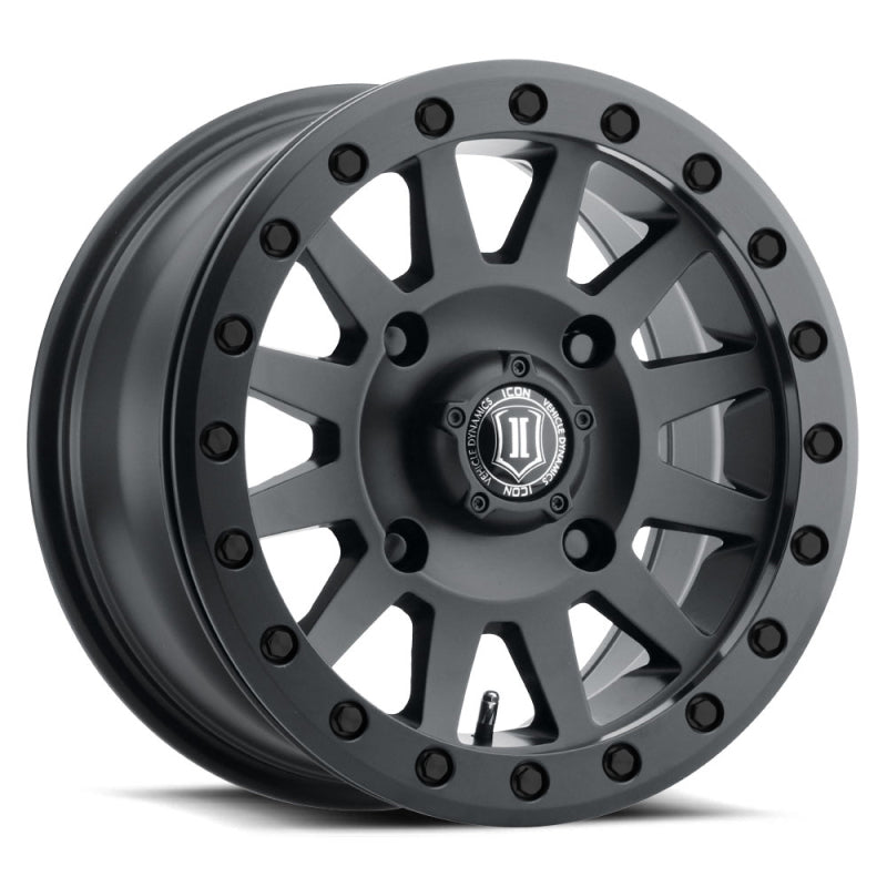 ICON Compression 15x7 4x156 12mm Offset 4+3 BS 132mm Bore Satin Black Wheel