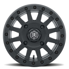 Load image into Gallery viewer, ICON Compression 15x7 4x156 12mm Offset 4+3 BS 132mm Bore Satin Black Wheel