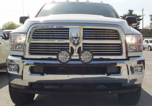 N-Fab Light Bar 10-17 Dodge Ram 2500/3500 - Gloss Black - Light Tabs