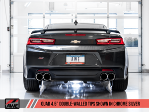 AWE Tuning 16-19 Chevrolet Camaro SS Axle-back Exhaust - Touring Edition (Quad Chrome Silver Tips)