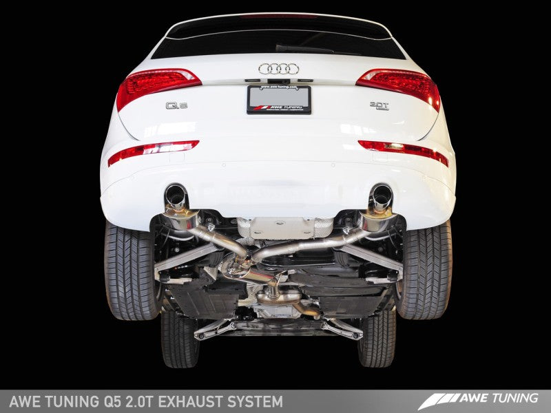 AWE Tuning Audi 8R Q5 2.0T Touring Edition Exhaust - Polished Silver Tips