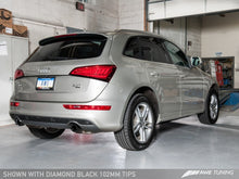 Load image into Gallery viewer, AWE Tuning Audi 8R Q5 3.0T Touring Edition Exhaust Dual Outlet Diamond Black Tips