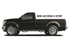 N-Fab Nerf Step 80-96 Ford F-250 80-92 F-150 Regular Cab 6.5ft Bed - Gloss Black - Bed Access - 3in