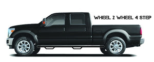 N-Fab Nerf Step 88-98 Chevy-GMC 1500/2500 Regular Cab 6.5ft Bed - Gloss Black - Bed Access - 3in