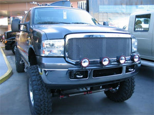 N-Fab Light Bar 99-07 Ford F250/F350 Super Duty/Excursion - Gloss Black - Light Tabs