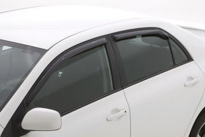 AVS 09-13 Toyota Corolla Ventvisor In-Channel Front & Rear Window Deflectors 4pc - Smoke