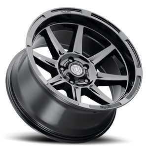 ICON Bandit 20x10 5x150 -24mm 4.5in BS 110.10mm Bore Gloss Black Wheel