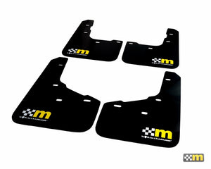 mountune / Rally Armor 14-19 Ford Fiesta ST Mud Flap Set - Yellow (5 Door)