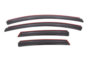 AVS 12-18 Ford Focus Ventvisor In-Channel Front & Rear Window Deflectors 4pc - Smoke