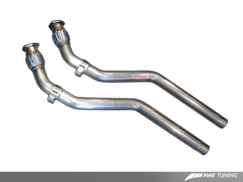 AWE Tuning Audi B8 4.2L Non-Resonated Downpipes for S5