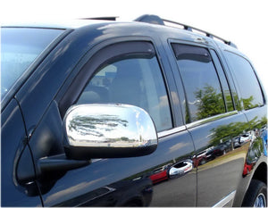 AVS 07-10 Chrysler Aspen Ventvisor In-Channel Front & Rear Window Deflectors 4pc - Smoke