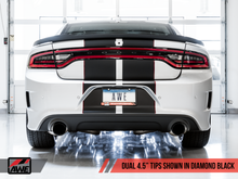 Load image into Gallery viewer, AWE Tuning 2017+ Dodge Charger 5.7L Track Edition Exhaust - Diamond Black Tips