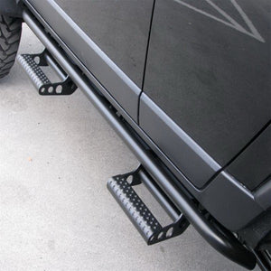 N-Fab RKR Step System 15-17 GMC - Chevy Canyon/Colorado Ext. Cab - Tex. Black - 1.75in