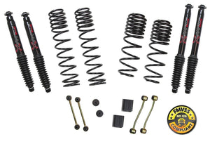 Skyjacker 2018 Jeep Wrangler (JL) 2DR 2in-2.5in Suspension Lift Kit w/Black Max Shocks