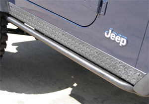 N-Fab RKR Rails 04-06 Jeep Wrangler-Unlimited TJ 2 Door All - Tex. Black - 1.75in