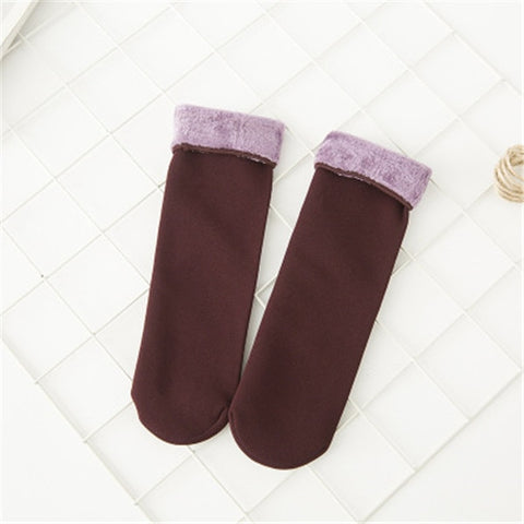 Winter Wamer Women Thicken Thermal Wool Cashmere Snow Socks Seamless Velvet Boots Floor Sleeping Socks for Mens