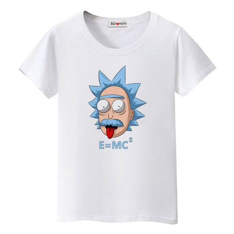 BGtomato cartoon Einstein tshirt lovely old man t-shirt funny tops genius clothes shein haut femme gothic t shirt women modis