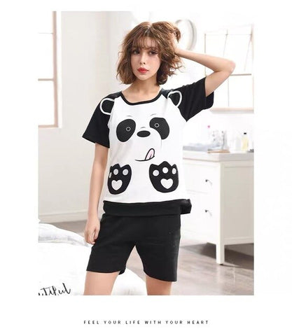 Pajama Sets Couple Shorts Sleeve
