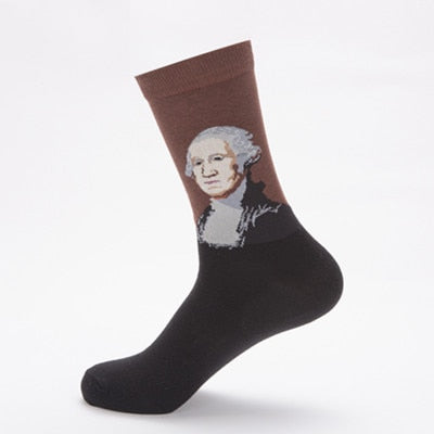 Men Funny Art Dress Socks