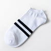 Image of 5 Pairs Men's Breathable Ankle Stripe Cotton Socks