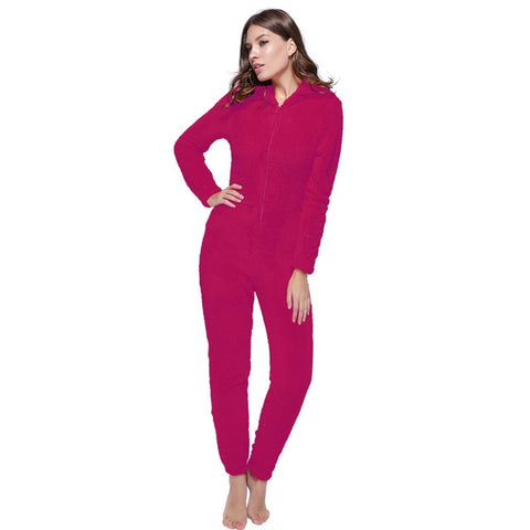 Women Plus Size Teddy Pajama Set Female Hooded Kigurumi Warm Sleeping Pyjamas Women Fleece Kingurumi Pajama Set For Women Adults