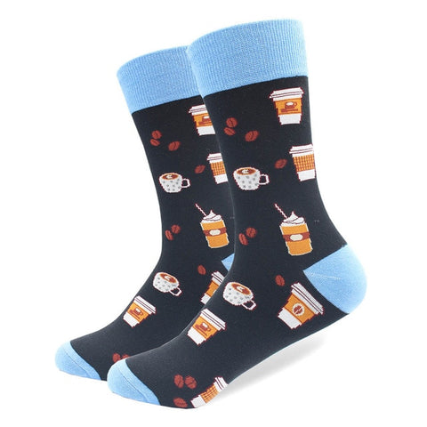 1 Pair Winter Spring Happy Socks Cotton Men Crew