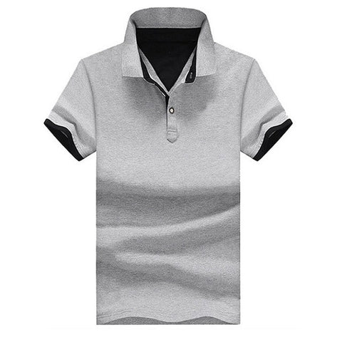 Solid Color Men's Polo Shirt High Quality Men's Cotton Short-Sleeved Shirt Summer Shirt Large Size M-4XL;YA200