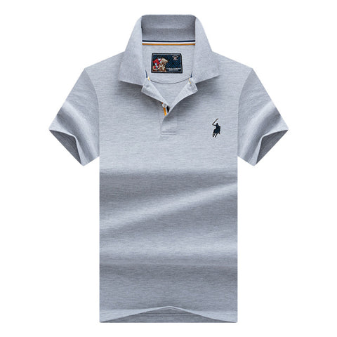 Brand New Fashion Men Polo Shirts 2018 Summer Luxury horse embroidery Breathable Camisa Masculina Soft Cotton solid Polo Men