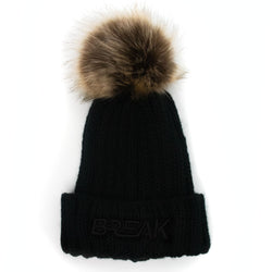 3D Break Fur Beanie - Blackout