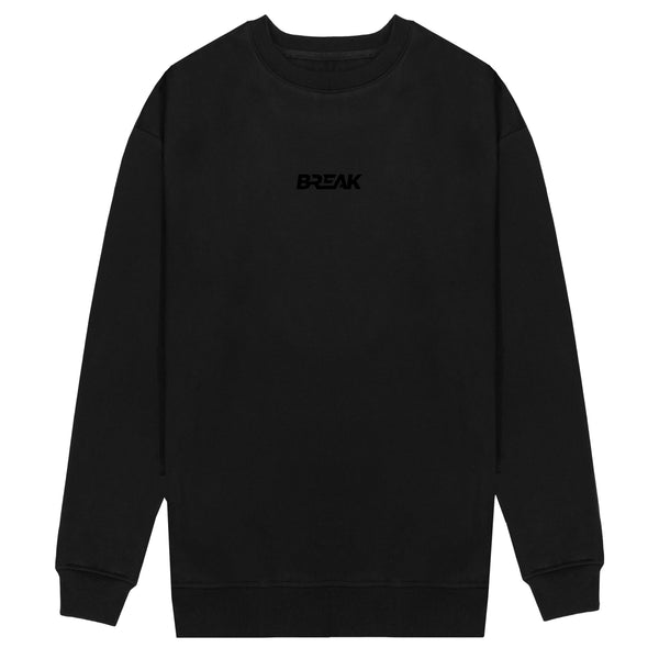 3D Embroidered Sweatshirt - Blackout