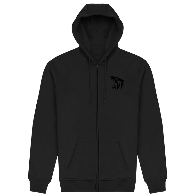 Classic Embroidered Zip Hoodie - Blackout