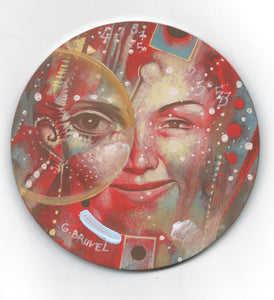 Celestial Dreamer - A Rare Miniature Painting by Gil Bruvel