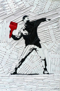 Brush Thrower (after Banksy)