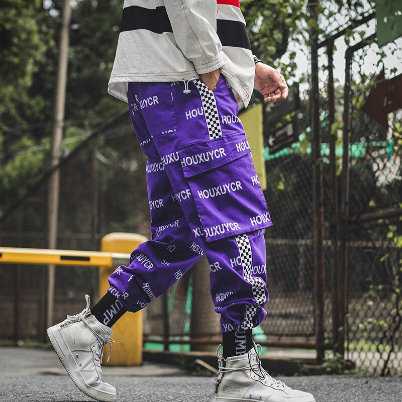 2019 Men Streetwear Pants Letter Printed Hip Hop Harem Pants Men's Jogger Trousers Summer Casual Male Harem Pants LBZ76