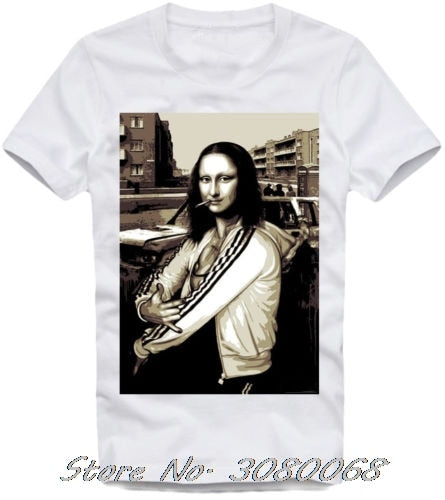 Shirt Mona Lisa Lil Pump Peep Ghostemane Esketit Fashion Men Short Sleeve Cotton T-shirt Cool Tees
