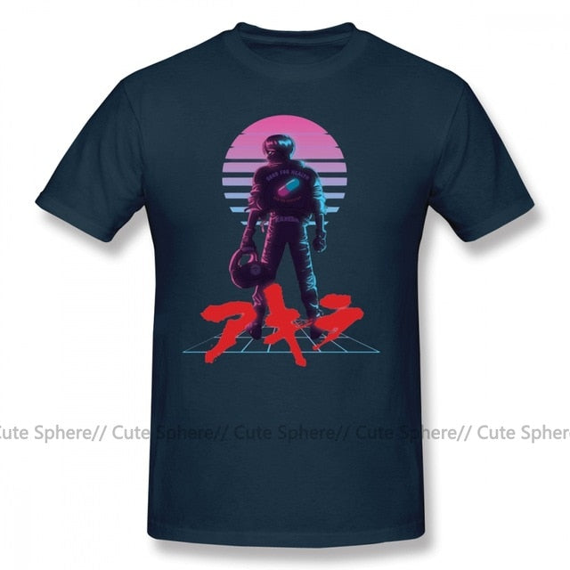 Akira T Shirt AKIRA 80 S Inspired Kaneda T-Shirt Mens 6xl Tee Shirt Cotton Short-Sleeve Beach Printed Cute Tshirt