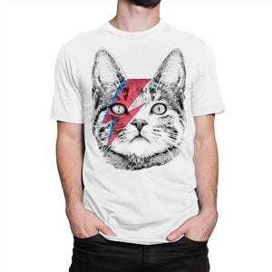 Stardust Cat T-Shirt, David Bowie Men'S Women'S Tee, All Sizes  New Brand Sales Cotton Short Sleeve Military T Shirts