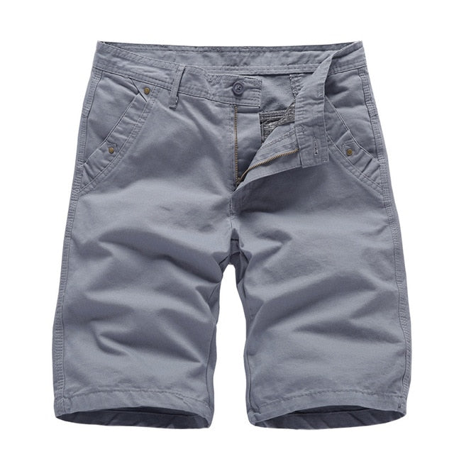Brand New Mens Cargo Shorts 2020 High Quality Black Military Short Pants Men Cotton Solid Casual Beach Shorts Men Summer Bottom