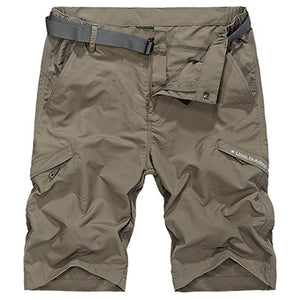 Waterproof Military Cargo Shorts Men 2020 Summer Quick Dry Loose Male Short Pants Thin Material Male Short Masculino WIth Belt