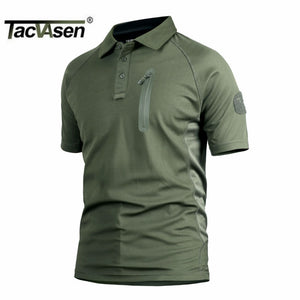 TACVASEN Summer Men Tactical T-Shirts Lightweight Airsoft Army Combat T-shirts Quick Dry Cargo Work Top Tees Military Clothing