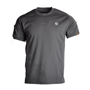 TACVASEN T Shirts Men Summer Short Sleeve Quick Dry Tactical T-shirts Solid O-Neck Military Army Combat T-shirt Airsoft Top Tees