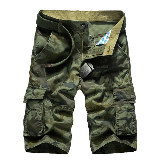 2020 Summer Men Shorts Fashion Plaid Beach Shorts Mens Casual Camouflage Shorts Military Short Pants Male Bermuda Cargo Overalls