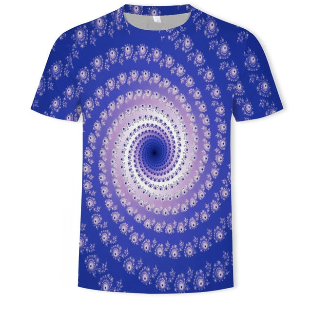 Men's Dizzy Eyes 3D T-Shirt Funny T-Shirt Anime Costume Hypnosis 2020 Summer Men's Thin 3D Print T-Shirt Sweatshirt